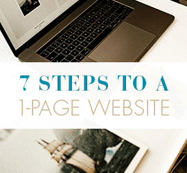 7 Steps to a 1-Page Website